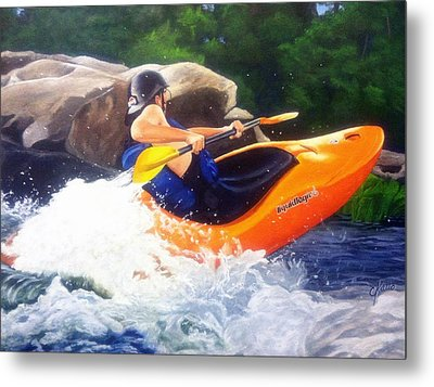 Kayaking Fun Metal Print by Cireena Katto