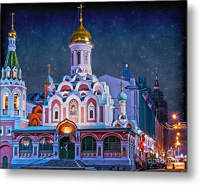 Kazan Cathedral. Red Square. Moscow Russia Metal Print by Juli Scalzi