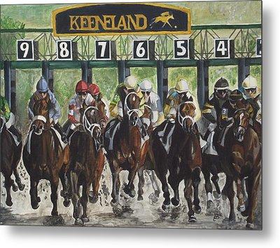 Keeneland Metal Print by Kim Selig