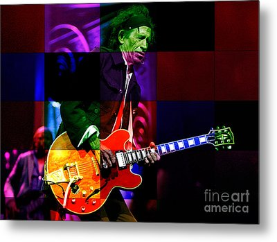 Keith Richards Metal Print by Marvin Blaine