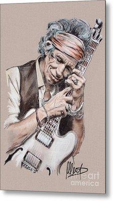 Keith Richards Metal Print by Melanie D