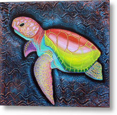 Kemp's Ridley Sea Turtle Metal Print by Laura Barbosa
