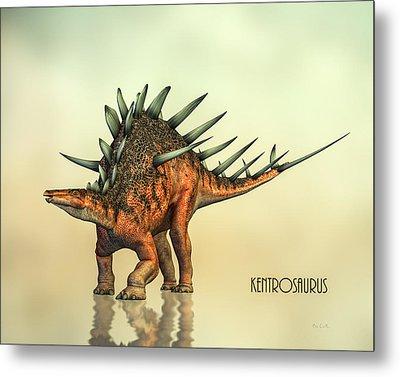 Kentrosaurus Dinosaur Metal Print by Bob Orsillo