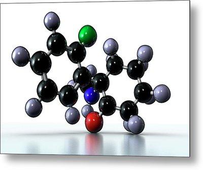 Ketamine Drug Metal Print by Animate4.com/science Photo Libary