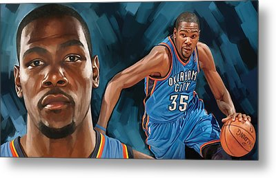 Kevin Durant Artwork Metal Print by Sheraz A