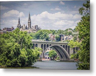 Key Bridge And Georgetown University Metal Print by Bradley Clay