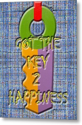 Key To Happiness Metal Print by Patrick J Murphy
