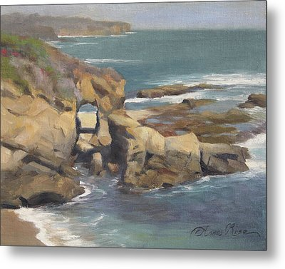 Keyhole Rock At The Montage Laguna Beach Metal Print by Anna Rose Bain
