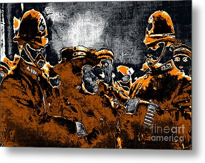 Keystone Cops - 20130208 Metal Print by Wingsdomain Art and Photography