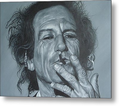 Keith Richards Metal Print by David Dunne
