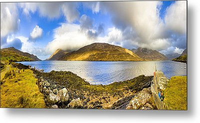 Killary Fjord - Irish Panorama Metal Print by Mark E Tisdale