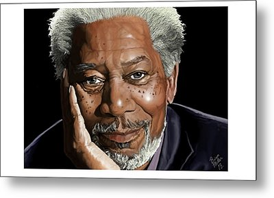 Kind Face Morgan Freeman Metal Print by Brien Miller