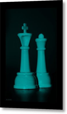 King And Queen In Turquois Metal Print by Rob Hans
