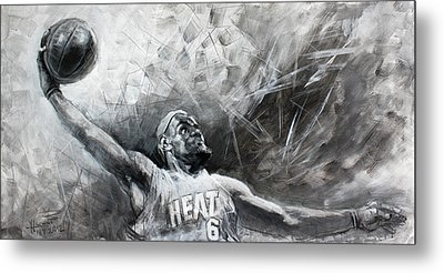 King James Lebron Metal Print by Ylli Haruni