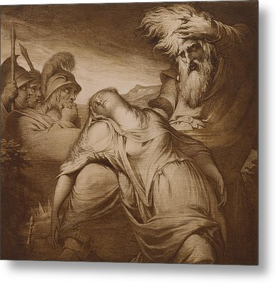 King Lear And Cordelia Metal Print by James Barry