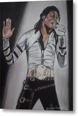 King Of Pop Metal Print by Demitrius Roberts