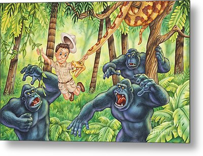 King Of The Jungle Metal Print by Phil Wilson
