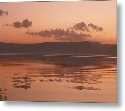 Kinneret Ripples At Dusk Metal Print by Noreen HaCohen