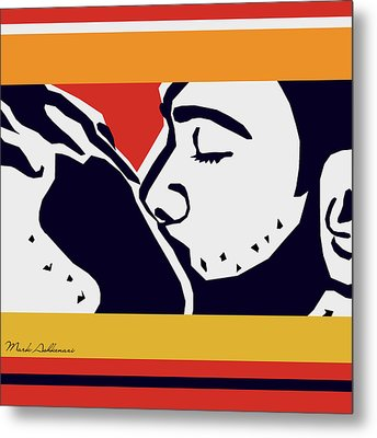 Kiss 2 Metal Print by Mark Ashkenazi