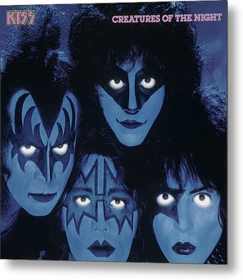 Kiss - Creatures From The Night Metal Print by Epic Rights