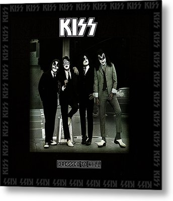 Kiss - Dressed To Kill Metal Print by Epic Rights