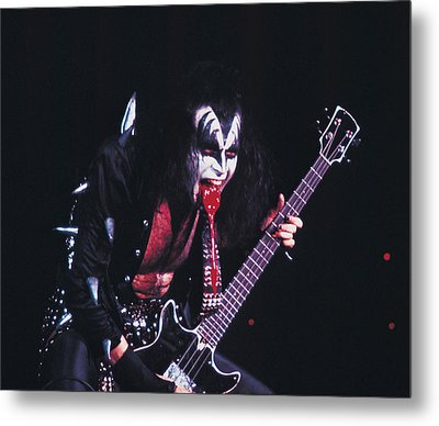 Kiss - Gene Simmons Blood 1973 Metal Print by Epic Rights
