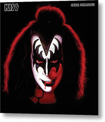 Kiss - Gene Simmons Metal Print by Epic Rights