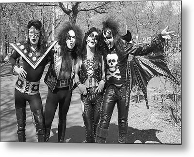 Kiss - Group Early Years Metal Print by Epic Rights