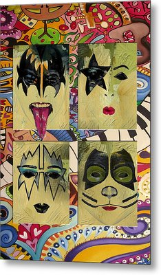Kiss The Band Metal Print by Corporate Art Task Force