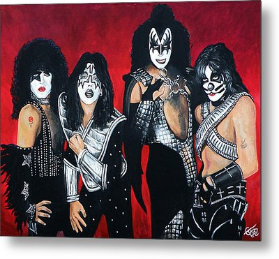 Kiss Metal Print by Tom Carlton