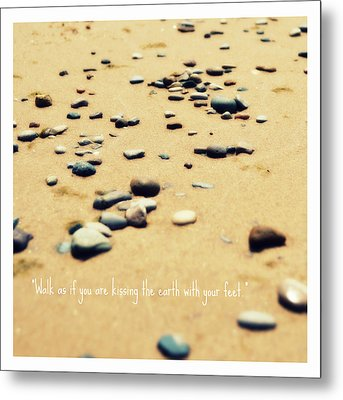 Kissing The Earth Metal Print by Poetry and Art