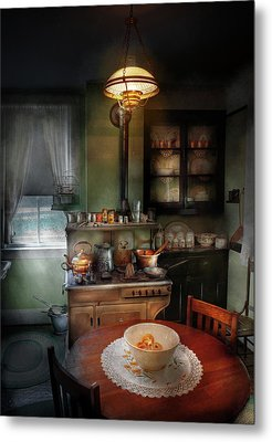 Kitchen - 1908 Kitchen Metal Print by Mike Savad