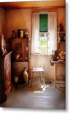 Kitchen - A Cottage Kitchen  Metal Print by Mike Savad