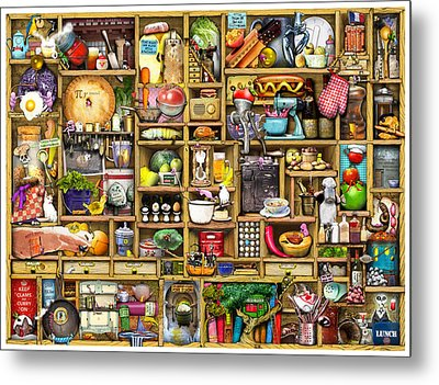 Kitchen Cupboard Metal Print by Colin Thompson