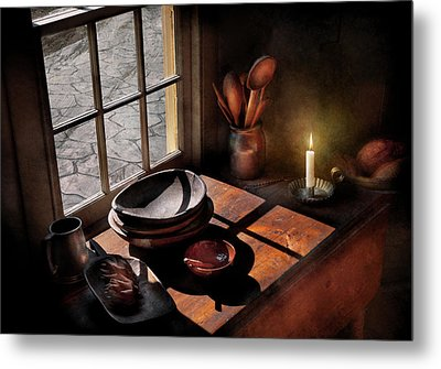 Kitchen - On A Table II  Metal Print by Mike Savad
