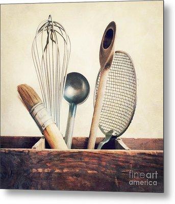 Kitchenware Metal Print by Priska Wettstein
