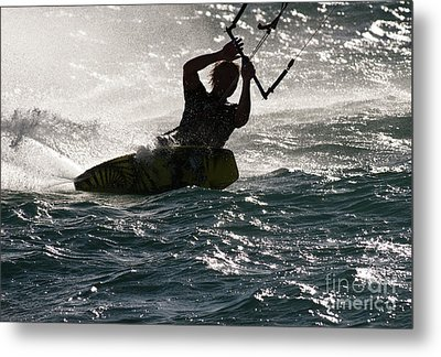 Kite Surfer 02 Metal Print by Rick Piper Photography