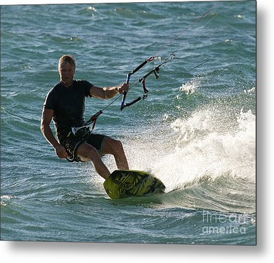 Kite Surfer 05 Metal Print by Rick Piper Photography