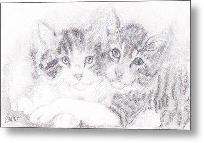 Kitties Metal Print by Caitlin  Wells