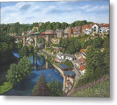 Knaresborough Yorkshire Metal Print by Richard Harpum