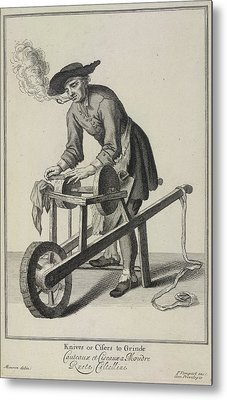 Knives Or Cifers To Grinde Metal Print by British Library