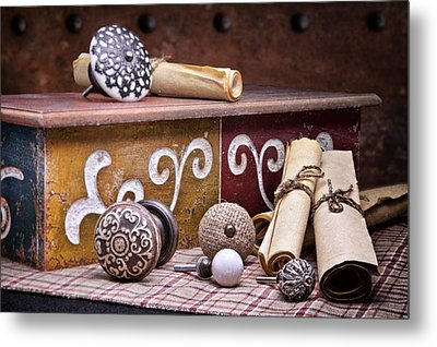 Knobs And Such Still Life Metal Print by Tom Mc Nemar