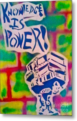 Knowledge Is Power 2 Metal Print by Tony B Conscious