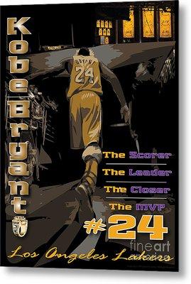 Kobe Bryant Game Over Metal Print by Israel Torres