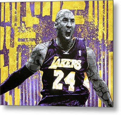 Kobe The Destroyer Metal Print by Bobby Zeik