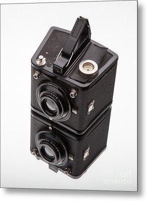 Kodak Brownie Film Camera Mirror Image Metal Print by Edward Fielding