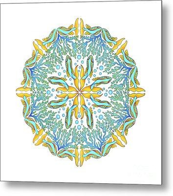 Koi Mandala Metal Print by Stephanie Troxell