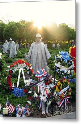 Korean War Memorial In Dc Metal Print by Olivier Le Queinec