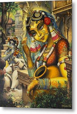 Krishna Is Here Metal Print by Vrindavan Das