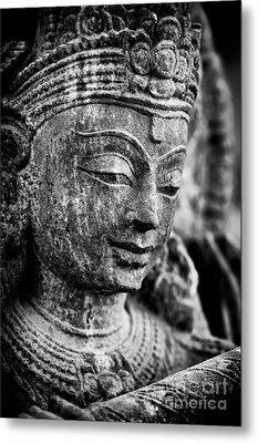 Krishna Monochrome Metal Print by Tim Gainey